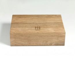 humidor per sigari in legno fossile modello 6 acqua