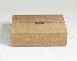 humidor per sigari in legno fossile modello 8 terra